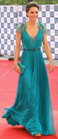 Kate Middleton - Our Greatest Team Rises Concert 2012 - Jenny Packham