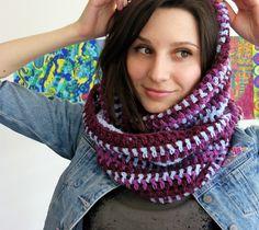 Jasmine - Neck warmer in Big Delight pattern by DROPS design-free