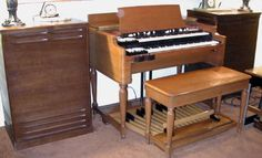Hammond B3 with twin Leslie speakers because 2 Leslie speakers are better than 1!