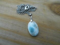 Natural Dominican Larimar Pendant Necklace by tlw1212 on Etsy