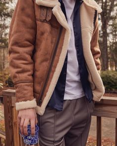 """7,141 Likes, 38 Comments - Urban Outfitters Men's (@urbanoutfittersmens) on Instagram: """"Time to bundle up. This one's a current favorite: the UO Shearling B-3 Bomber Jacket, SKU…"""""""