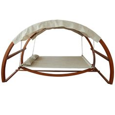 @Overstock.com - Canopy Swing Outdoor Bed - With a modern twist to the…