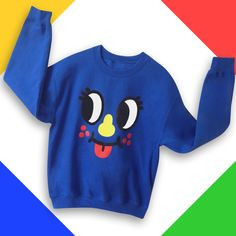 Inky sweatshirt , perfect for the winter cold!! He match perfectly with his best friend Blinky sweatshirt.