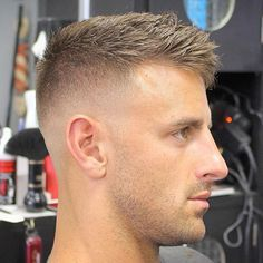 Haircuts For Balding Men - High Bald Fade with Crew Cut