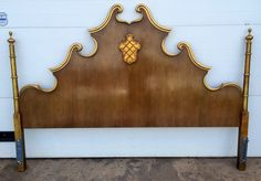 Vintage French Louis XVI style King Size Headboard by DelcoDecor