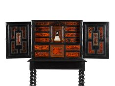 Small Doors, Bond Street, Tortoise Shell, 17th Century, It Works, Auction, Antiques, Cabinets, Furniture
