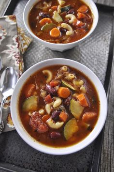 Minestrone Soup recipe! Great for cold weather.