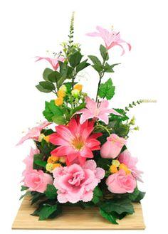 Arreglo de rosas y flor de durazno manualidades para centro de arreglo floral para centro de mesa manualidades altavistaventures Image collections