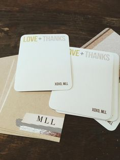 Personalized Thank You Notes by @moreloveletters
