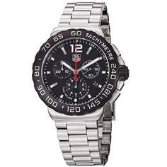TAG #Heuer Men's CAU1110.BA0858 Formula 1 Black Dial Chronograph Steel #Watch