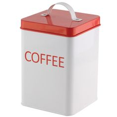Wake up to great storage, great design, and a great idea! This classic coffee canister will look great on your counter or in your pantry as it keeps your fresh coffee grounds sealed and ready for use.