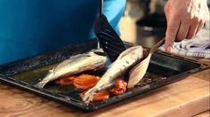 Λαζάρου   Τσιπούρες φούρνου με σάλτσα ούζου Pork, Fish, Meat, Ethnic Recipes, Youtube, Kale Stir Fry, Pigs, Ichthys