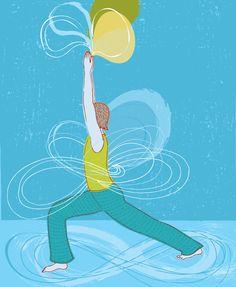 TRINA DALZIEL illustration for yoga journal