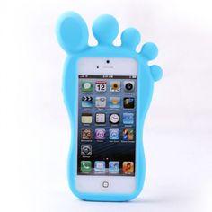 Cute Cartoon Feet Silicone Case for Iphone 4/4s/