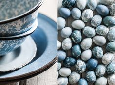 Little Rusted Ladle - Natural Dye Blue Marble Easter Eggs