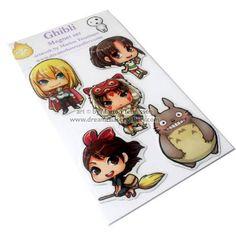 Ghibli anime Magnet set of 5