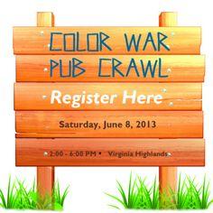 Y'ALL Presents Color War Pub Crawl Color Wars, Twin Lakes, Pub Crawl, Presents, Herbs, Bar, Future, Ideas, Gifts