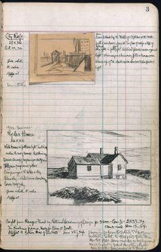 Edward Hopper's sketchbook & register