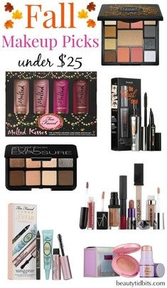 Best Fall Makeup Products under $25 via @beautytidbits