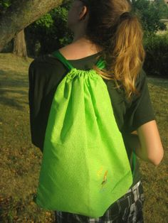 Green Diva Shopper Drawstring Trick or Treat candy collection loot bag overnight