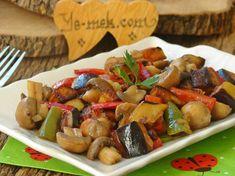 Patlıcanlı Mantar Sote Resimli Tarifi - Yemek Tarifleri