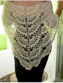 47 best ideas for crochet lace shawl pattern Crochet Shawls And Wraps, Crochet Scarves, Crochet Clothes, Lace Shawls, Irish Crochet, Crochet Lace, Crochet Stitches, Hand Crochet, Free Crochet
