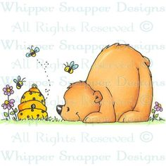 Curious Clyde - Bears - Animals - Rubber Stamps