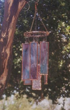 Gorgeous Stained Glass Wind Chimes For Your by Lightworksartworks, $30.00