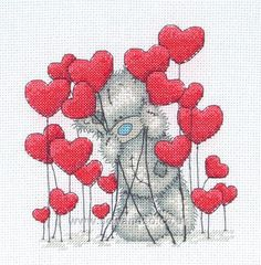 Tatty Teddy - Hearts cross stitch