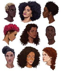 38 Ideas Hair Women Illustration Black Art For 2019 Black Girl Art, Black Women Art, Black Art, Art Girl, Black Girls, Natural Hair Art, Natural Hair Styles, Hair Reference, Afro Art