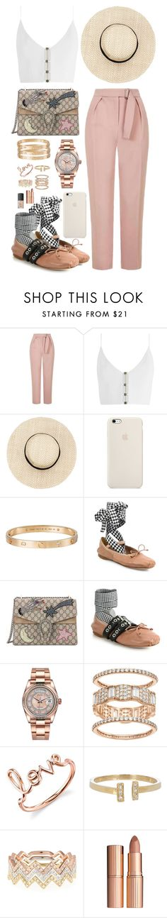 """""""inspired running errands outfit"""" by cristinahope ❤ liked on Polyvore featuring Topshop, Zimmermann, Cartier, Miu Miu, Gucci, Rolex, Sydney Evan, Loren Stewart, EF Collection and Charlotte Tilbury"""