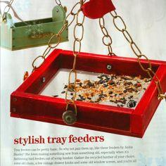 DIY Bird Tray Feeders