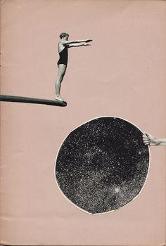 Space Diver Art Print by tessjohnson Digital Collage, Collage Art, Collage Ideas, Collage Illustration, Illustrations, Surrealist Collage, Montage Photo, Collage Vintage, Photocollage