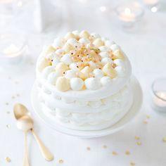 Pavlova de fêtes, vanille
