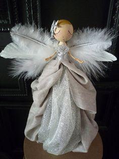 Christmas Tree Angel  Angel Tree Topper by MilkTeabyBthanari