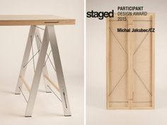 Michal Jakubec: variabilní stůl oceněný Staged Design Award, table, flexible, wood, zdroj: www.staged-designshow.com #czechdesign #design #award
