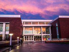 Dixon rec center at sunset