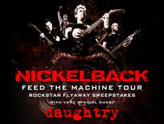I just entered this Nickleback Rockstar Flayway Sweepstakes