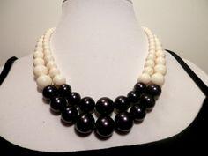 Two Strand Swarovski Dark Purple and Ivory Pearl by houseofTROCK, $45.00