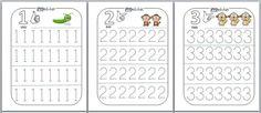 Am făcut câteva fişe pentru recunoaşterea şi trasarea cifrelor 1 – Sper să vă… Mathematics Geometry, Home Schooling, Kids Education, Preschool Activities, Diy And Crafts, Learning, Creative, Children, Google