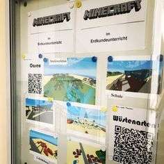 """""""#Minecraft in #Erdkunde SuS haben zum Thema Wüste eine Oase damit gebaut! Infos zum Thema mit QR Codes versehen. #gamyfication #lehrer"""""""