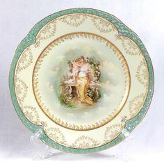 19th C Bavaria Porcelain Portrait Plate | eBay