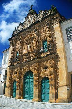 Igreja da Ordem Terceira de São Francisco - Salvador, Brazil want a turquoise blue door