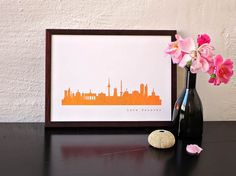 BERLIN City Skyline Copper Poster - Copper Print on premium Ecological Paper…