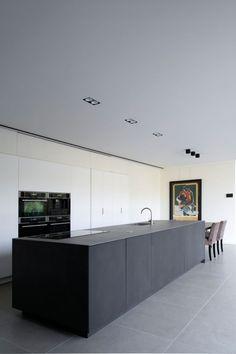 - Home - Cozinha Best Kitchen Designs, Modern Kitchen Design, Interior Design Kitchen, Black Kitchens, Home Kitchens, Kitchen Ceiling Lights, Minimalist Kitchen, Hygge, Kitchen Remodel