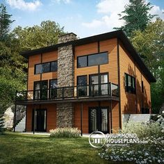 Exciting, new plan with modern rustic influence - 3 bedrooms, 2 living rooms & cathedral ceiling !   http://www.drummondhouseplans.com/house-plan-detail/info/1003168.html