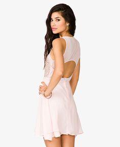 Sequined Mesh Skater Dress | FOREVER21 - 2025101552