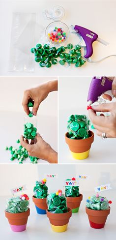Paint-Dipped Cactus Party Favors (Tutorial) // Hostess with the Mostess® - Paint-Dipped Cactus Party Favors (Tutorial) // Hostess with the Mostess® Make Your Own Cactus Favors Fiesta Party Favors, Mexican Fiesta Party, Fiestas Party, Kid Party Favors, Fiesta Party Decorations, Baby Favors, Diy Quince Party Favors, Western Party Favors, Mexican Party Favors