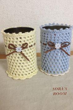 可愛い空き缶カバー*の作り方|編み物|編み物・手芸・ソーイング | アトリエ|手芸レシピ16,000件!みんなで作る手芸やハンドメイド作品、雑貨の作り方ポータル