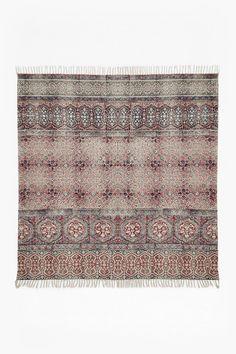 Large Burgundy Tile Rug